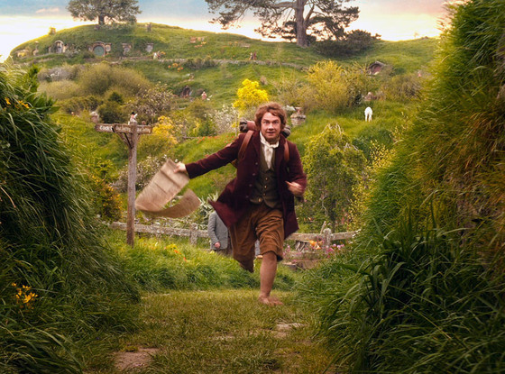Bilbo leaving The Shire behind.